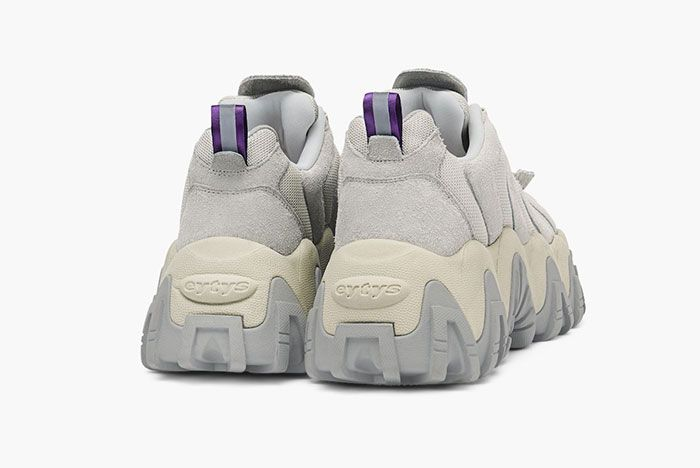 Eytys Halo Sneaker Suede Off White Rear Angle