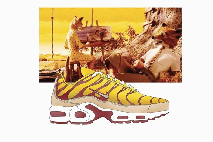 Wes Anderson Sneaker Illustration Air Max Plus
