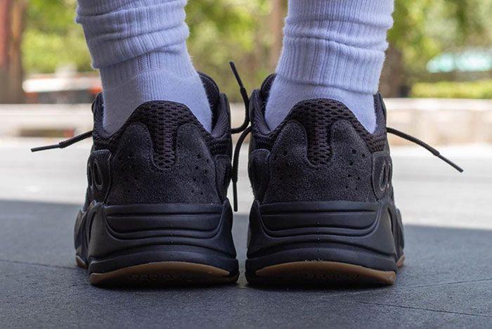 Yeezy Boost 700 Utility Black On Foot 8
