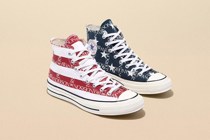 Jw Anderson Converse Chuck 70 American Flag Release Date Pair