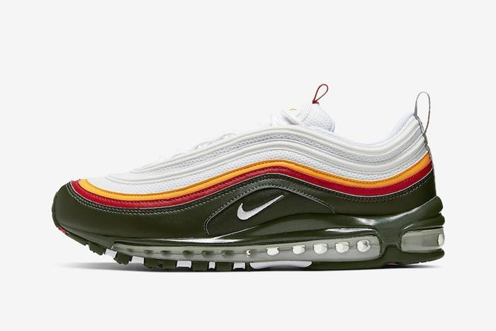 Nike Air Max 97 Dynamic Yellow Evergreen Lateral