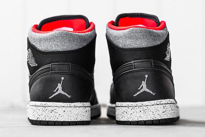 Air Jordan 1 Mid Black Cement4