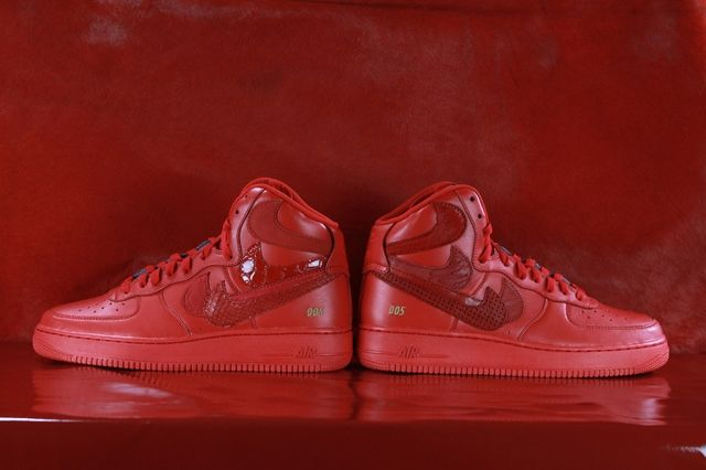 Nike Air Force 1 Misplaced Checks Red John Geiger 03