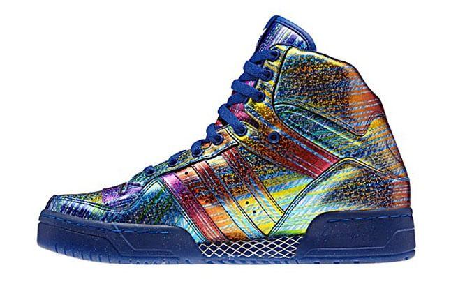 Jeremy Scott X Adidas Originals Hologram Rainbow Profile 1