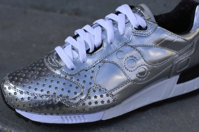 Play Cloths Saucony Silver Front Angle 1