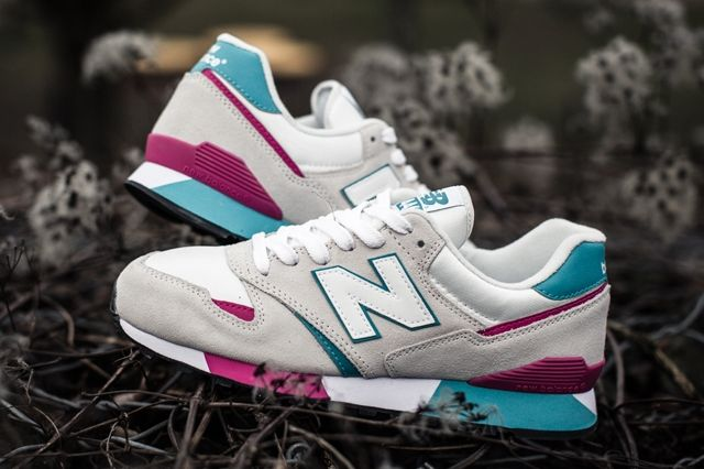 New Balance 446 White Teal Berry 2
