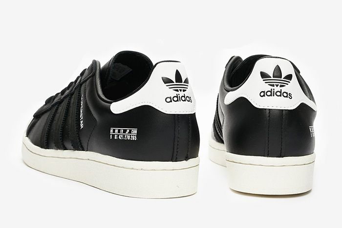 Adidas Superstar Misplaced Size Tag Black Fv2809 Black Rear Angle