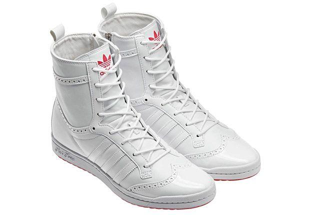 Adidas Top Ten High Sleek Brogue White Pair 1