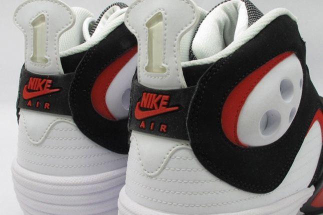 White Black Red Nike Air Flight One Heel 1