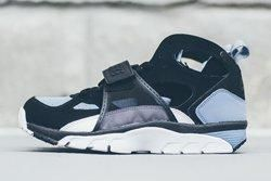 Nike Huarache Trainer Black Grey Bumper Thumb