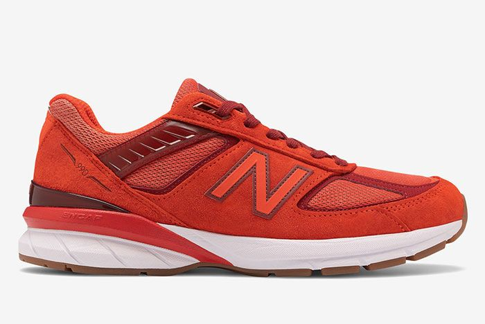 New Balance 990V5 Molten Lava Lateral Side Shot