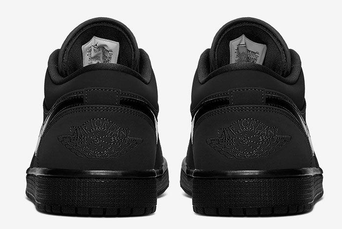 Air Jordan 1 Low Triple Black 553558 056 Heel