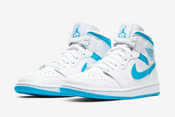 Air Jordan 1 Mid Unc Bq6472 114 Three Quarter Angle Side Shot