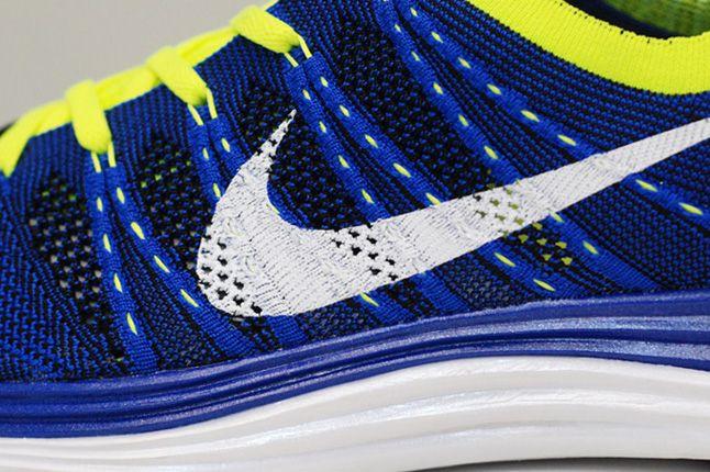 Nike Lunar One Blue Volt Side Details 1