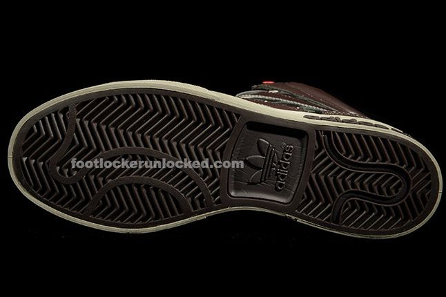 Adidas Top Court Camo Brown Outersole 1
