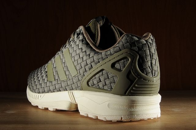 Adidas Zx Flux Reflective Weave Olive 7