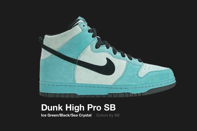 Nike Dunk High Sb Ice Green 2004 1