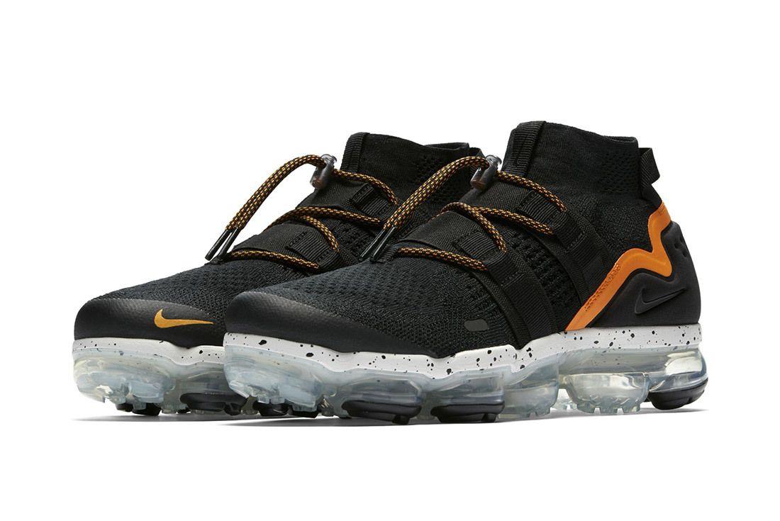 Nike Air Vapormax Utility Black Orange 7