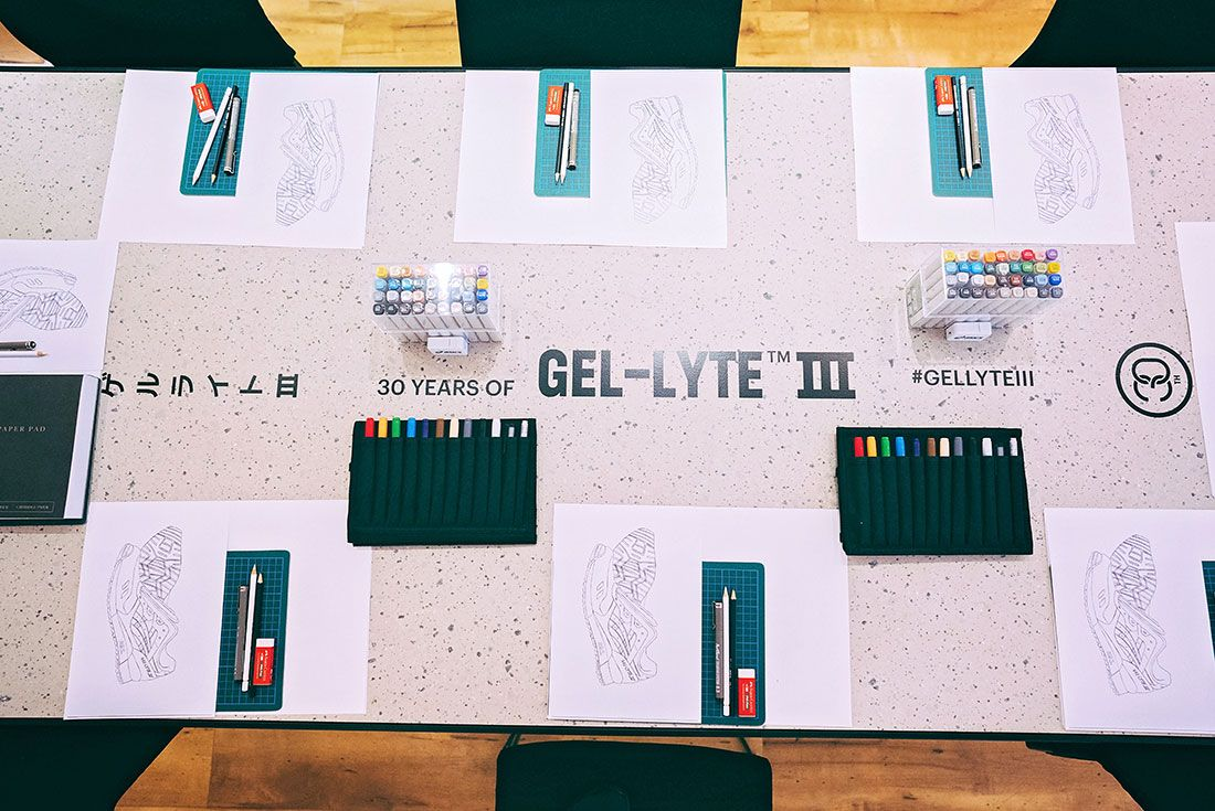 Asics Gel Lyte Iii 30Th Anniversary Sneaker Sketching Masterclass Drawing Table