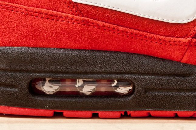 Nike Air Max 1 Prm Red Blk Detail 1