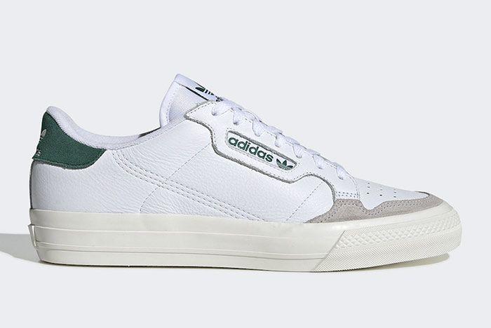 Adidas Continental Vulc White Green Right