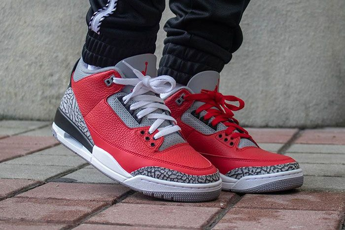 Air Jordan 3 Cement Red Fire Red All Star On Foot4