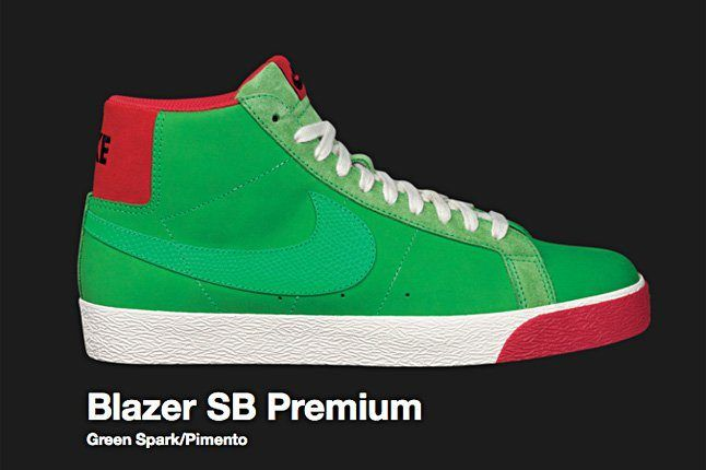 Nike Green Spark Blazer Sb 2009 1