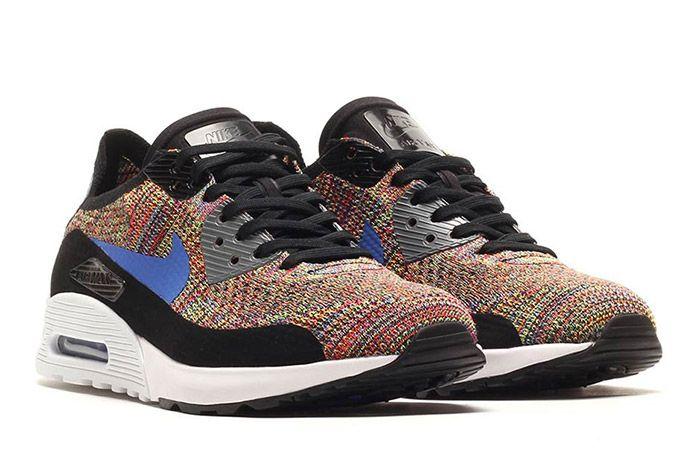 Nike Air Max 90 Flyknit Rainbow Multi 4