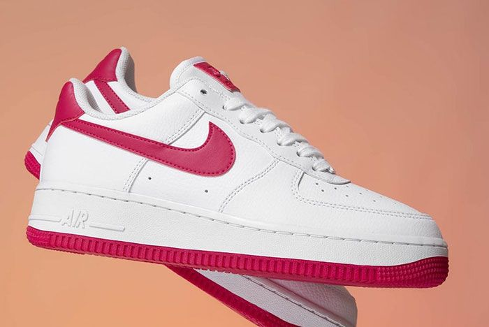 Nike Air Force 1 Wild Cherry Red Ah0287 107 Floating