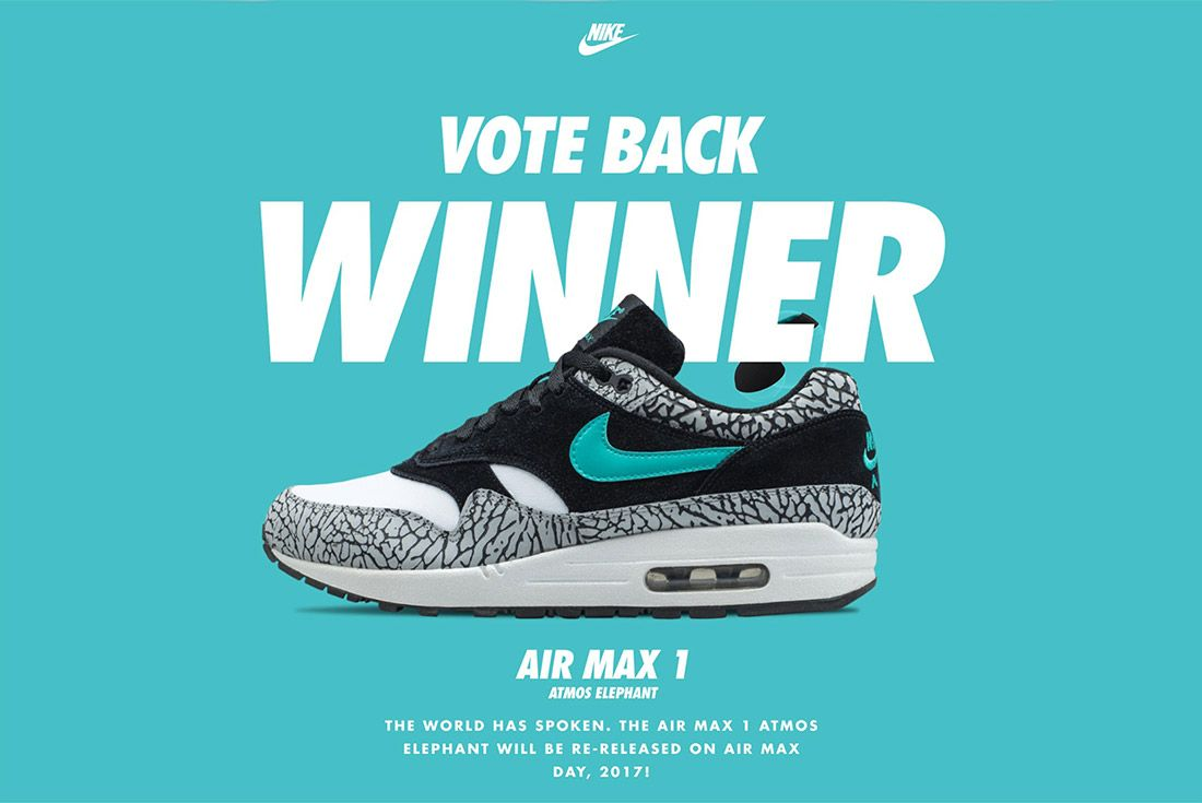 Nike Air Max 1 Atmos 2018 Vote Back Sneaker Freaker 1