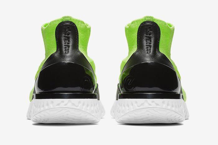 Nike Rise React Flyknit Lime Blast Heels