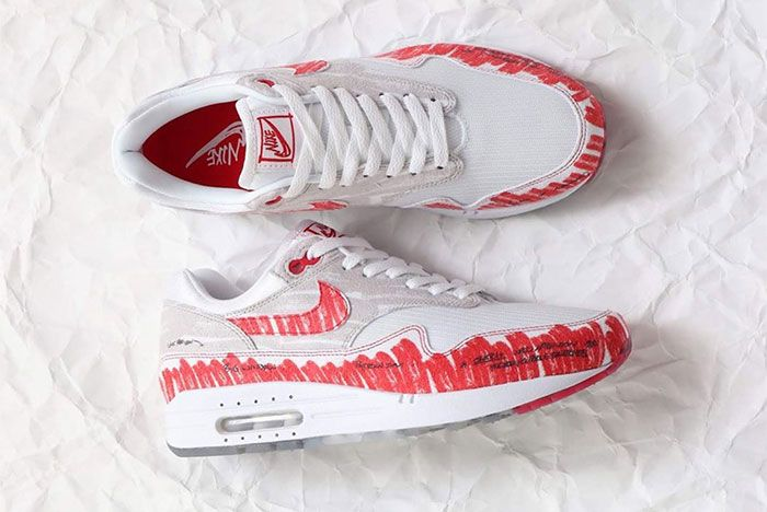 Nike Air Max 1 Sketch To Shelf Red Top 2