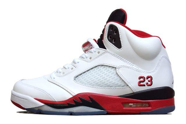Air Jordan 5 Fire Red Black Tongue 9