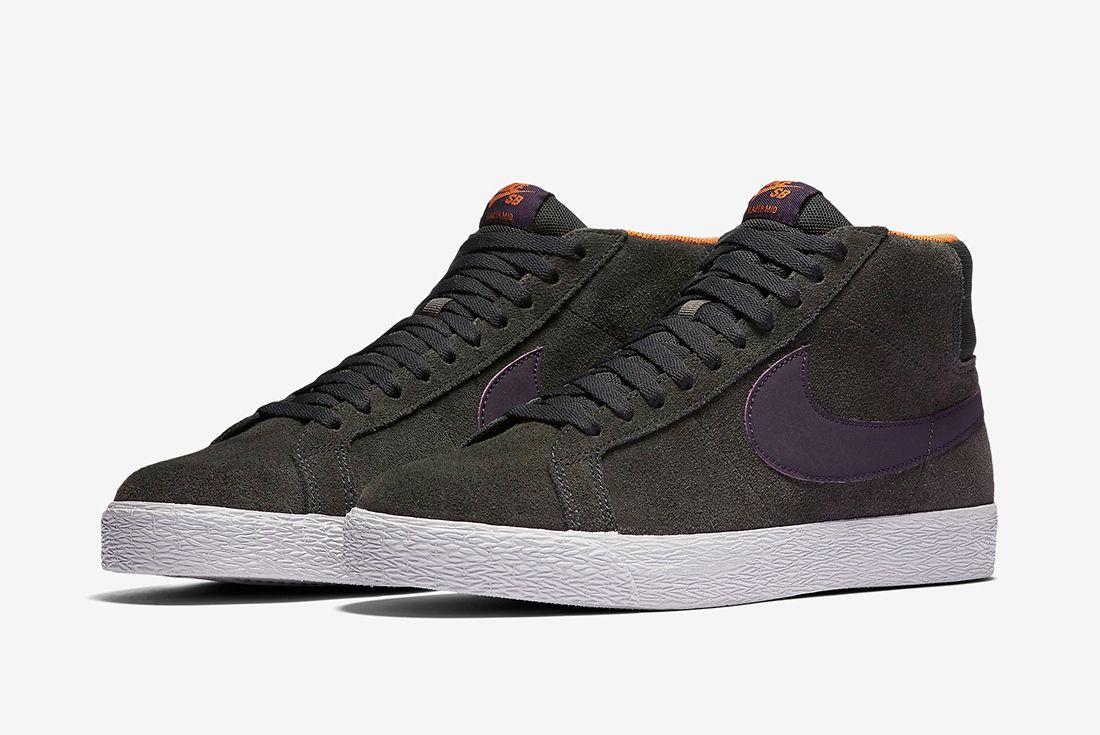 Nike Sb Zoom Blazer Premium Anthracite Purple Dynasty4