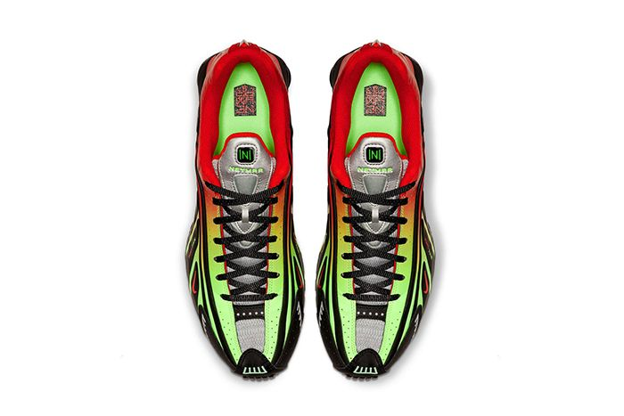 Neymar Nike Shox R4 Collaboration Official Black Red Green Release Date Top Down