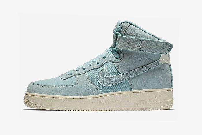 Nike Air Force 1 Hi Suede Pink Blue Yellow 3 Sneaker Freake