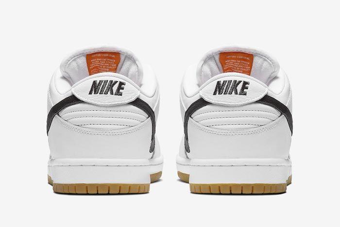 Nike Sb Orange Label Dunk White Gum Heels