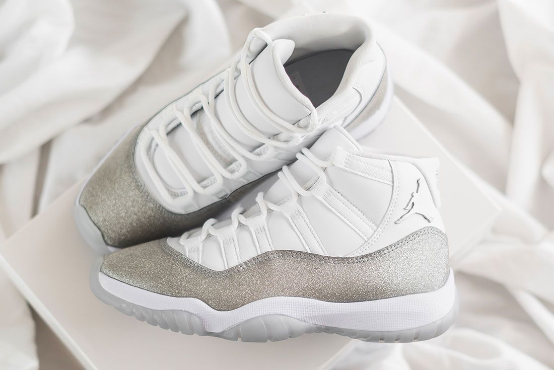 Air Jordan 11 Metallic Silver Jd Sports Hero5