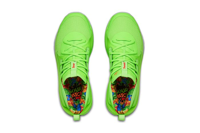 Sour Patch Kids Under Armour Curry 7 Lime Release Date Insoles