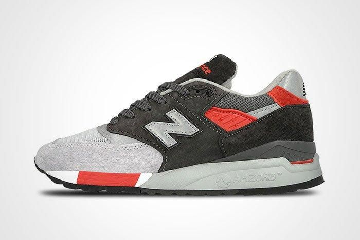 New Balance 998 Made In Usa Grey Red Thumb