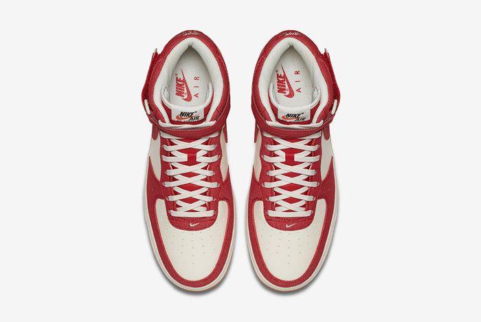 Nike Air Force 1 Red Denim 5