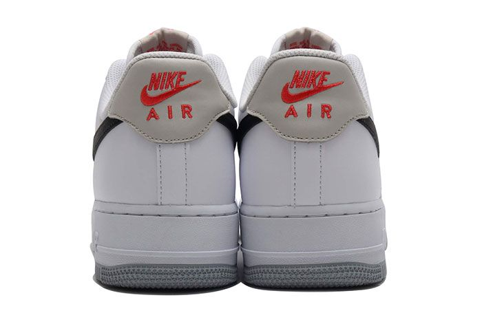 Nike Air Force 1 Low White Black Bone Ember Glow Ck0806 100 Heel