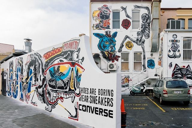 Converse Sneakers Clash Wall Fremantle 2