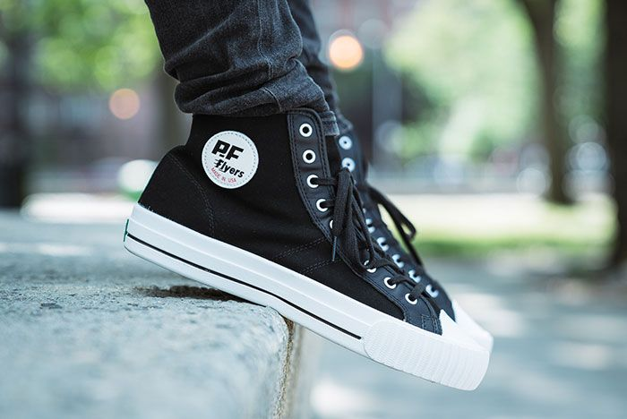 Pf Flyers Made In Use Centre Hi Black 1