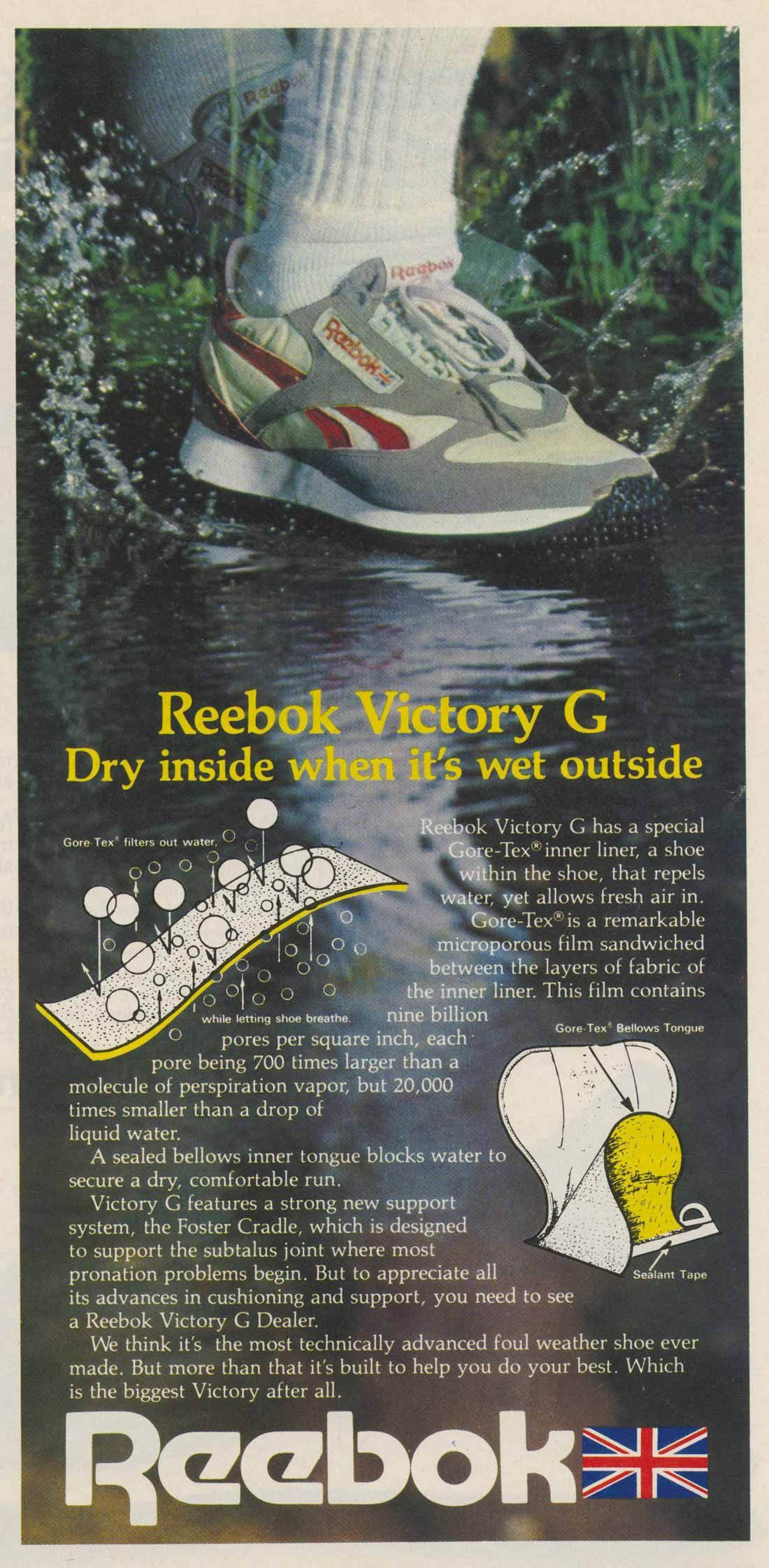 1982 – Reebok Victory G featuring GORE-TEX Inner Liner