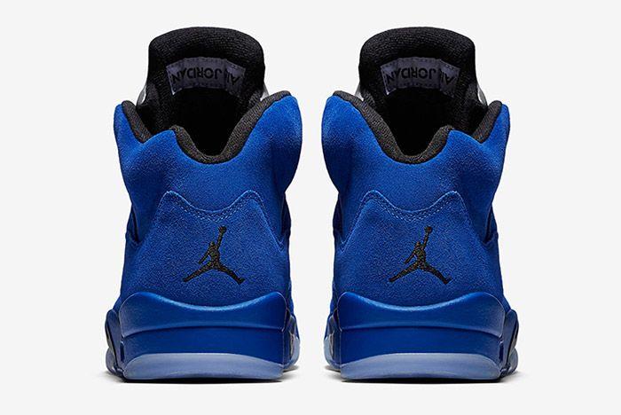 Air Jordan 5 Blue Suede 2