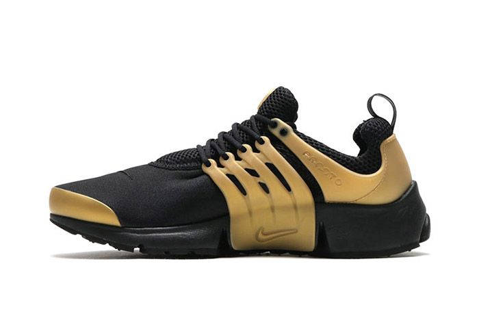 Nike Air Presto Black Metallic Gold 2