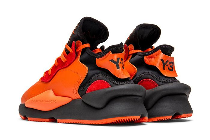 Adidas Y 3 Kaiwa Orange Black Back