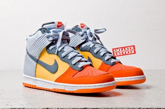 Nike Dunk Hi Team Orange Total Orange Toe Quarter