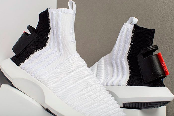 Adidas Crazy 1 Adv Sock Primeknit White Black Sneaker Freaker 1